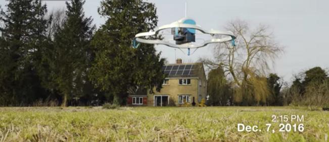 Amazon'da ilk dron teslimatı tarihe geçti