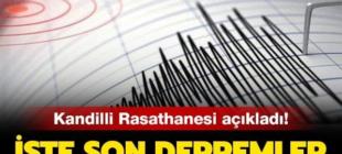 Son Dakika: Malatya'da 5.1 Büyüklüğünde Deprem